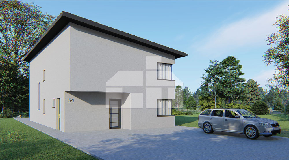 Two-storey house with a shed roof - no.54