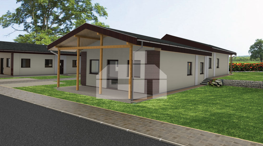 3-room bungalow for smaller grounds - no.13