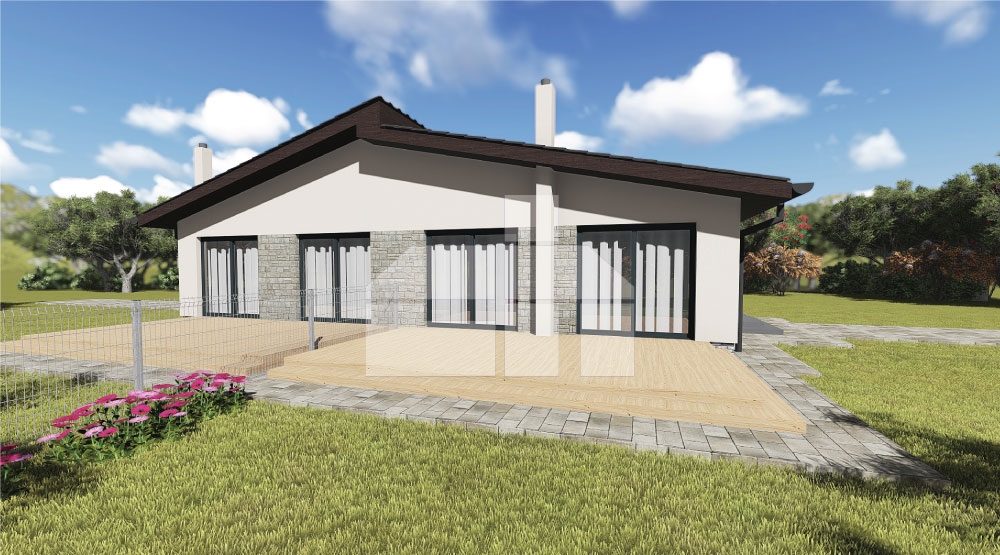 One storey semi - bungalow - č.D11