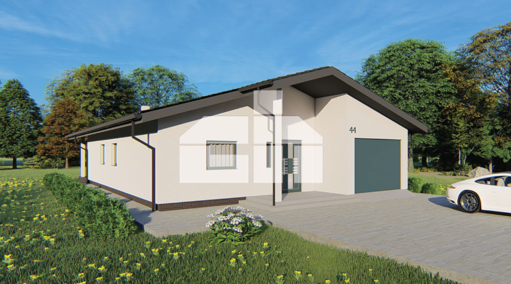 Bungalow with garage and four bedrooms - No.44
