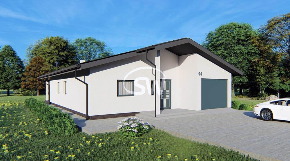 keramický štvorizbový bungalov s garážou