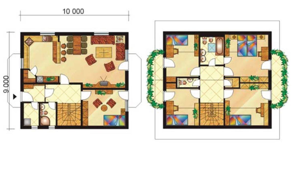 Six-story storeyed house with balcony - No.7, layout
