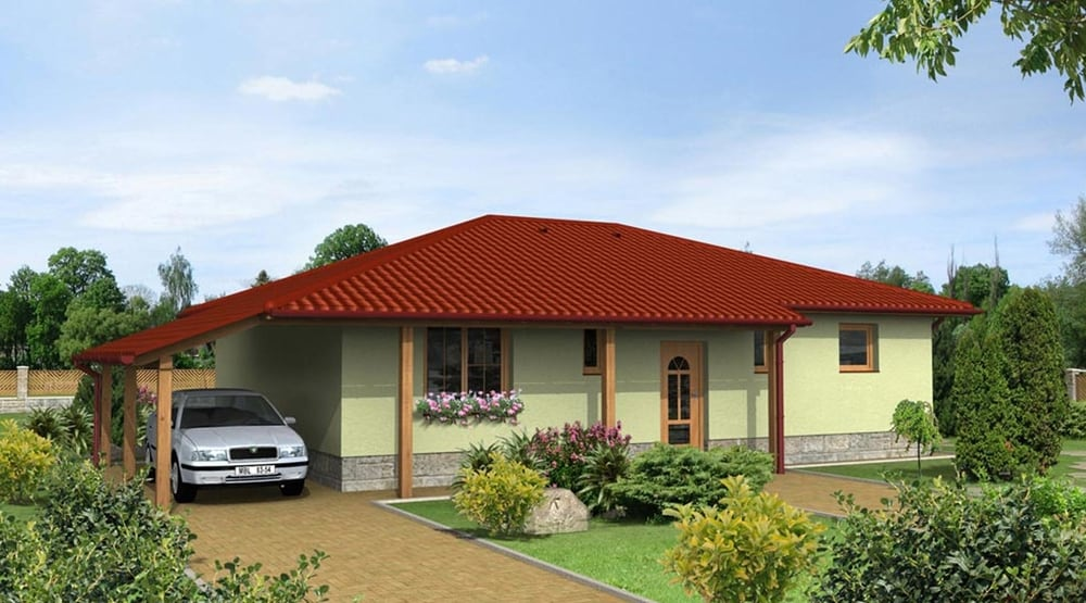 Bungalow with car port - No.12
