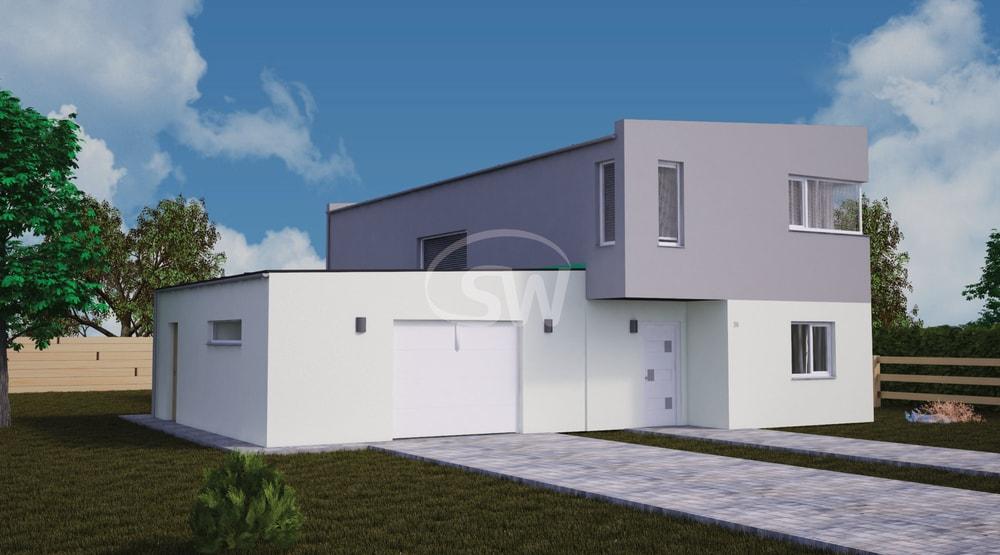 Dvojpodlažný moderný dom s garážou - č.50