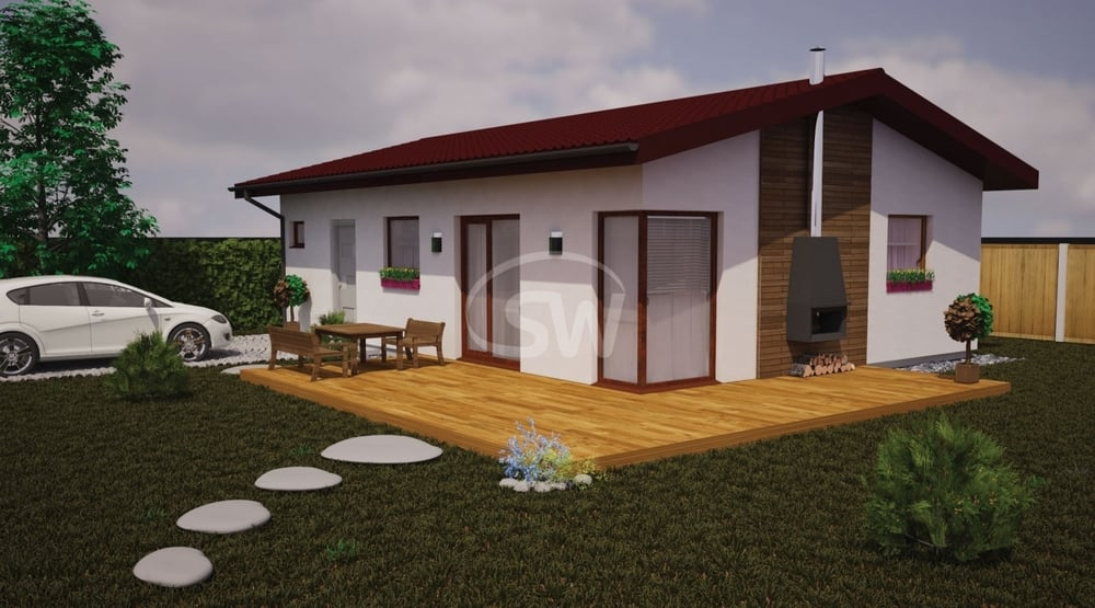Dvojspálňový bungalov pre menšie pozemky – č.15