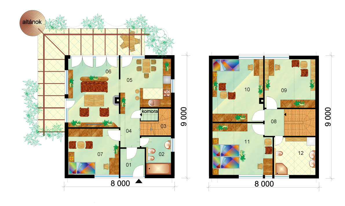 Favorite two-storey family house - No.5, layout