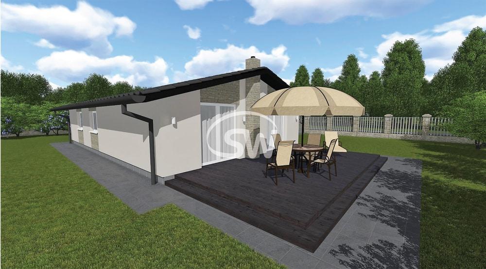 Obľúbený projekt rodinného domu s troma spálňami - č.31