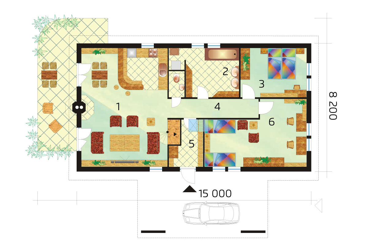 Three bedroom house with gallery- No.33, layout