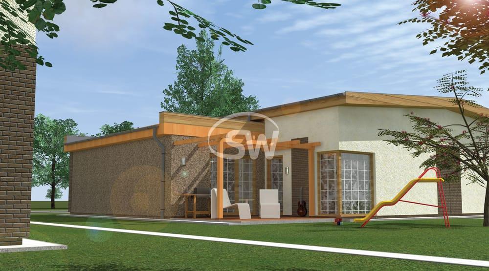 Trojspálňový prízemný dom v tvare L - č.10
