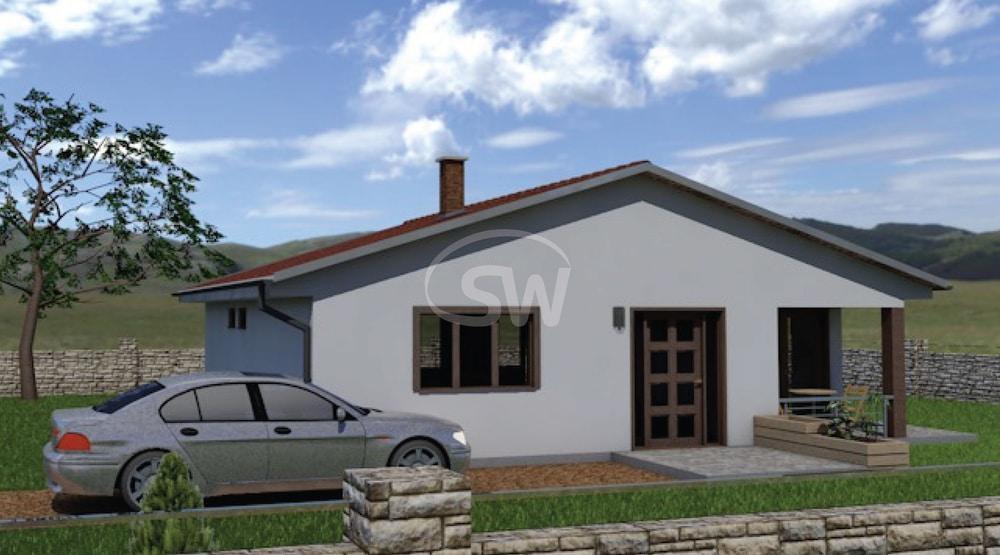 Trojspálňový rodinný dom so štvorcovým pôdorysom