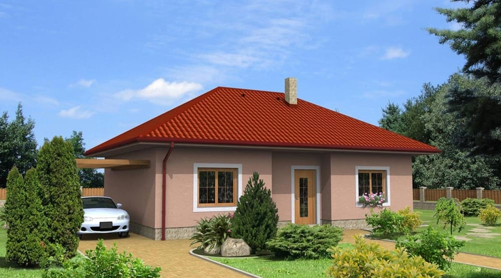 Large two bedroom bungalow with hip roof - No.11