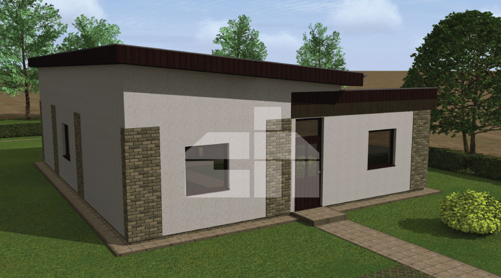 Three-bedroom L-shaped ground floor house - No.10