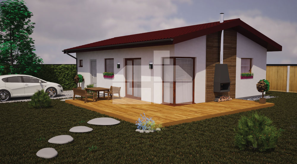 Two bedroom bungalow for smaller plots - No.15
