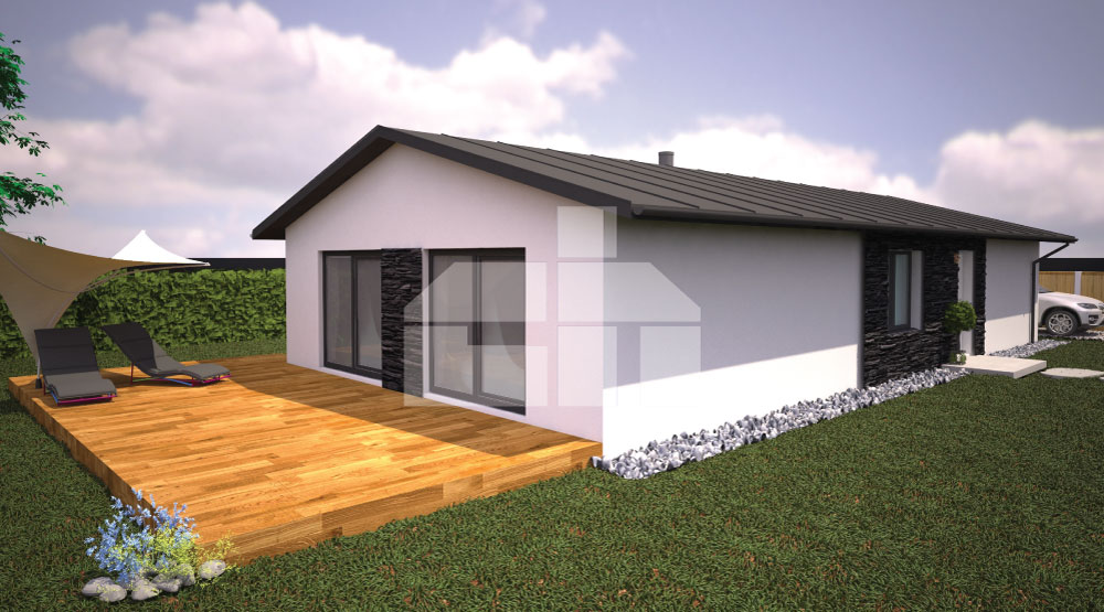 Project of a three-bedroom house on a narrow plot - No.18