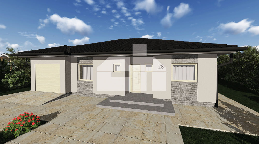 Three bedroom bungalow with garage - č.28