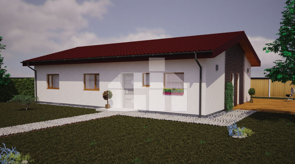 5 bedroom bungalow with rectangular floor plan - No.34