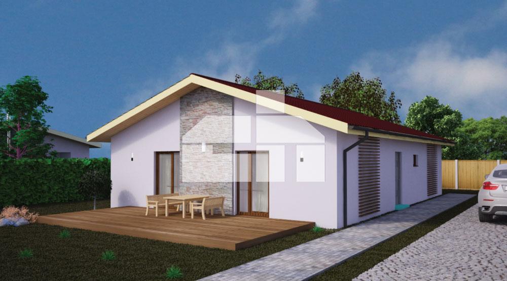 Four-room rectangular bungalow - No.39