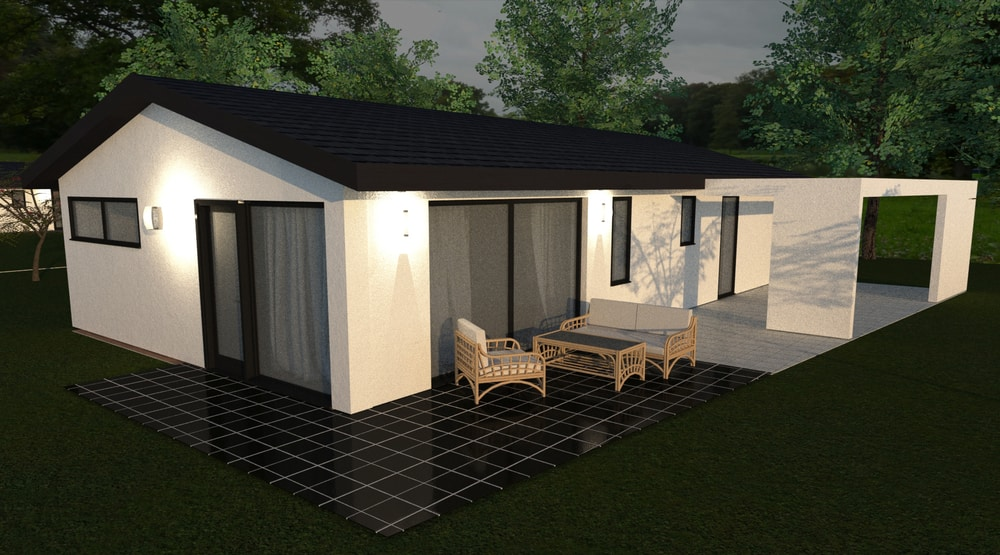 Two bedroom ceramic bungalow with one bedroom- No.93