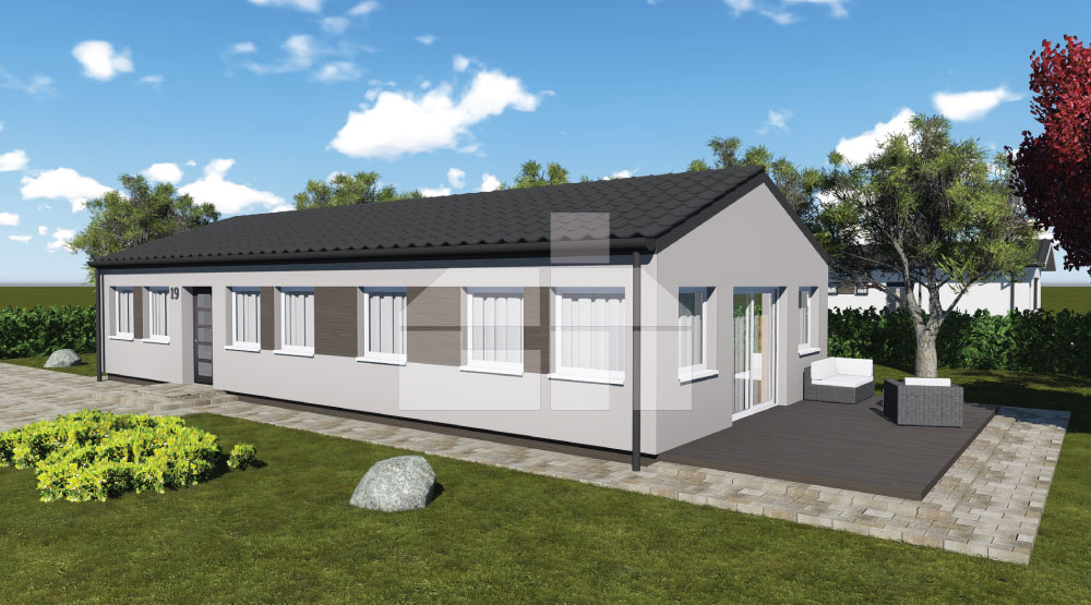Bungalow ideal for a narrow plot – no.19
